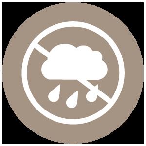 Rain block up to 80%