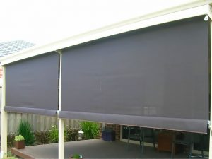 Crank Blinds - in half lowered postion