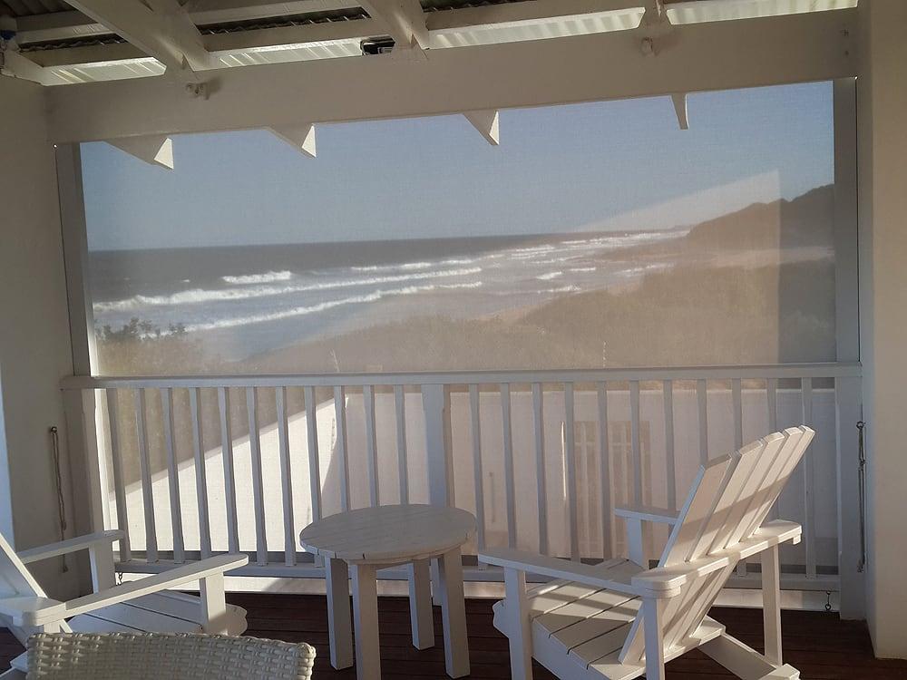 Crank Blind - Interior view - sea facing view