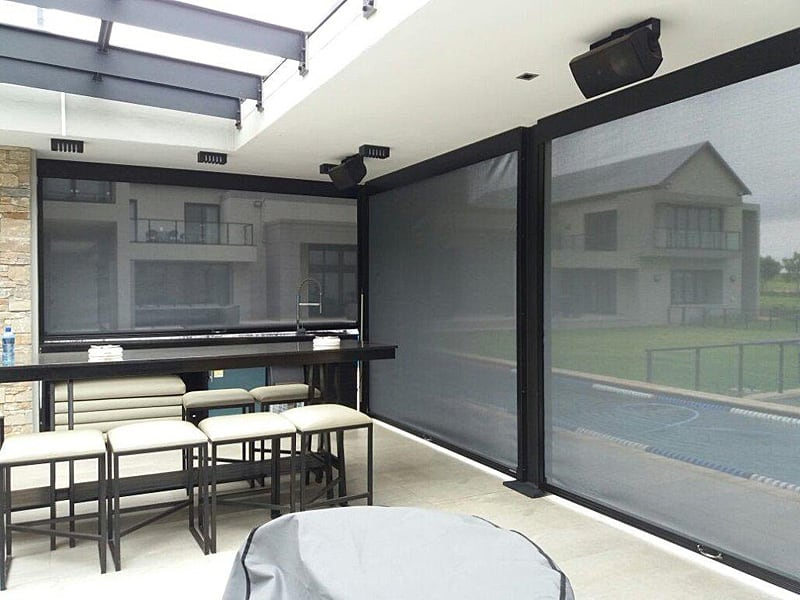 Slidetrack Blinds - stylish shade solution for entertainment areas