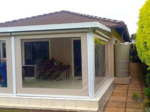 Slidetrack Blinds - Visiontex - with Clear Windows