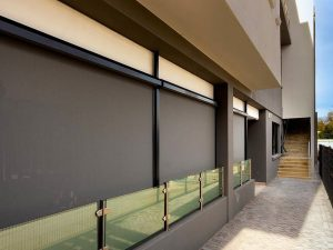 Slidetrack Blinds - Visiontex - exterior view