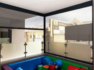 Slidetrack Blinds - Visiontex - indoor play area