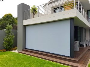 Slidetrack Blinds - Visiontex Plus - Half enclosed Patio