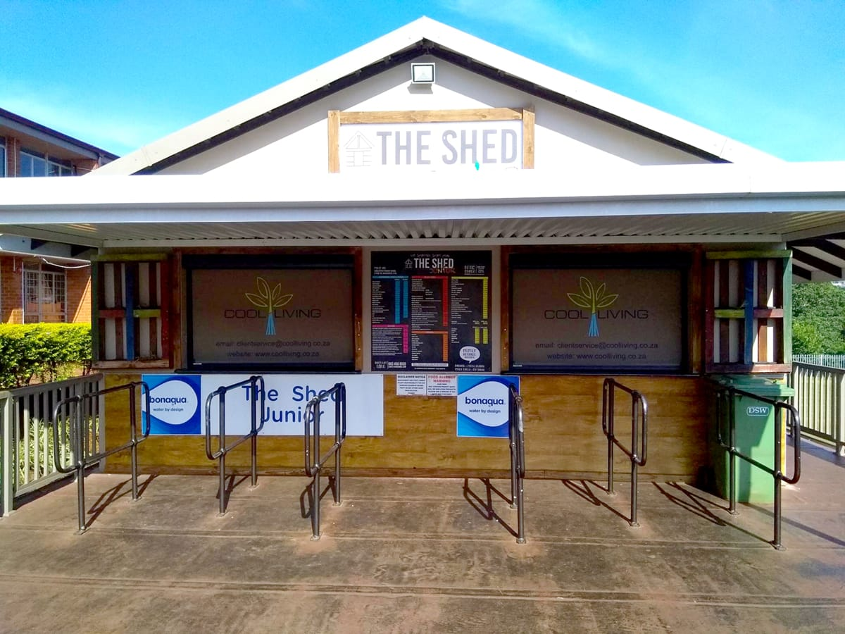Slidetrack Blinds - Amanzimtoti Primary - The Shed Canteen - Cool Living Branding