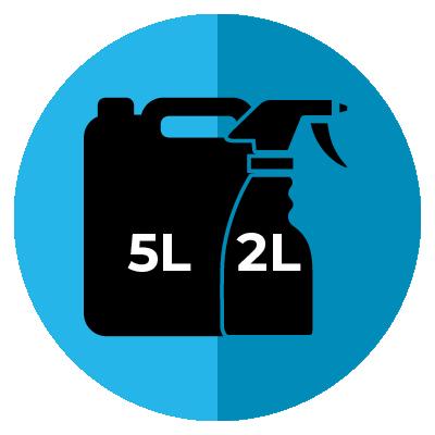 Cool Living 5L Sanitiser Plus 2L Spray Bottle Combo