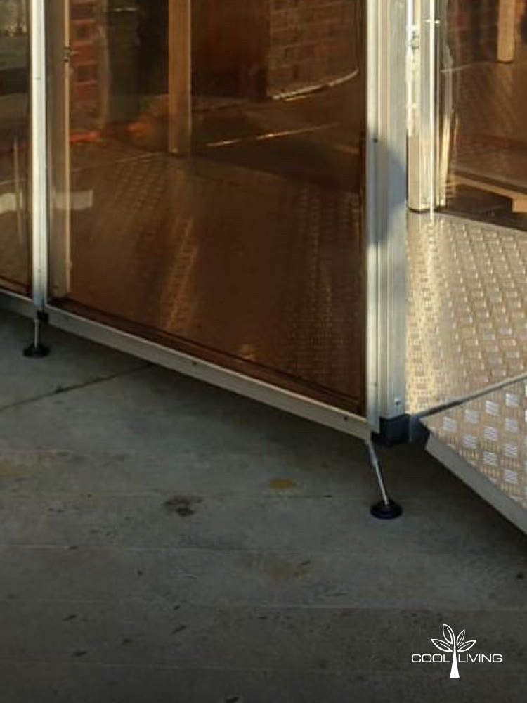 The Sanitisation Spray Tunnel - Self Leveling Feet and Ramp
