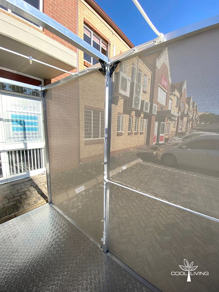 The Sanitisation Spray TunnelSolar Mesh Side Panel - Right Side View