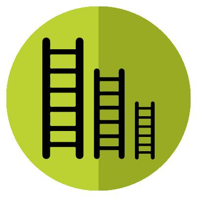 Fruit picking ladder benefit - Suitable sizes