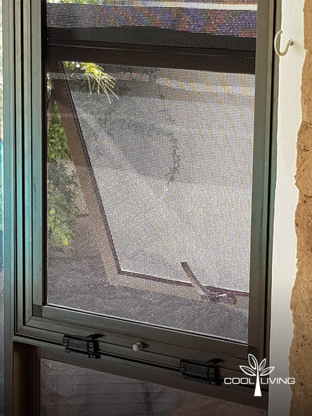 Security and Baboon Window Screen stainless steel mesh closer up