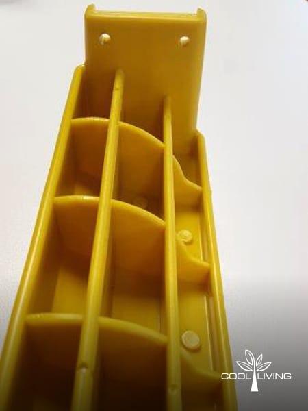 Ladder deep ribbing underneath step close up