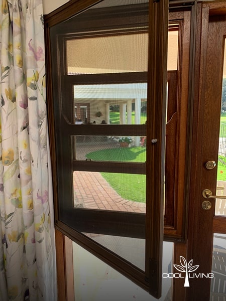 Security and Baboon Screen Side-hung wooden sash window