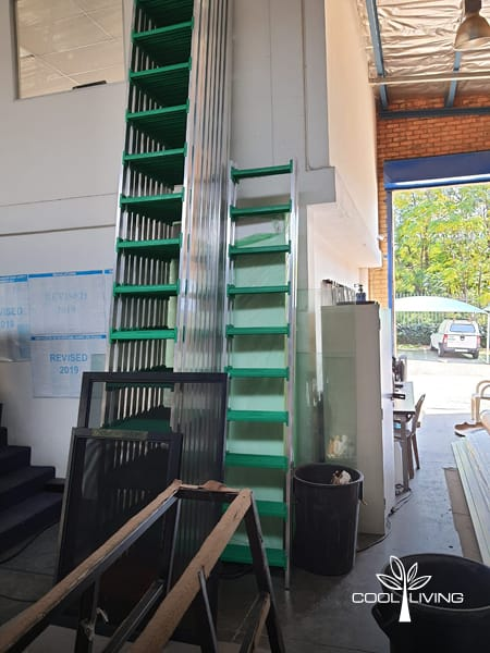 The fully assembled StepUp ladders come in various sizes