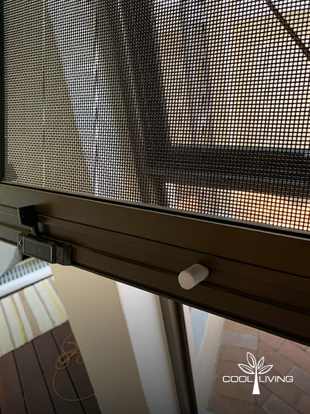 Close up of Window Security Screen