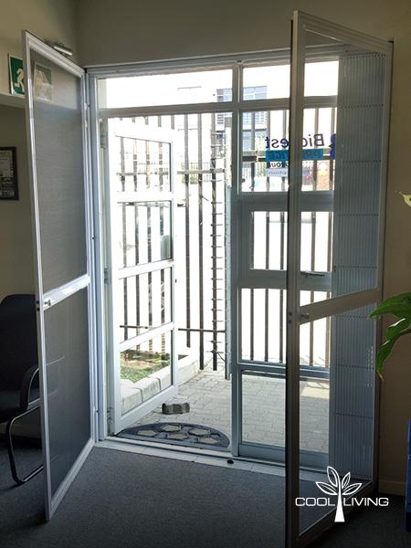 Double Side Hinged Door Screen Both Open