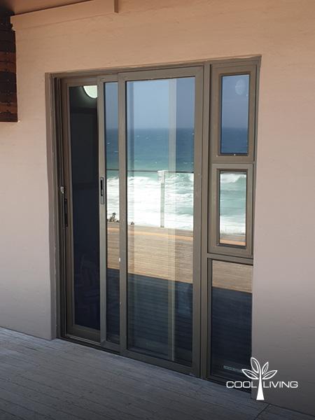 Security Screen Closed, with door open